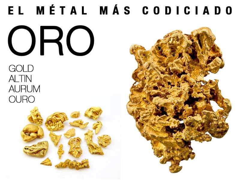 el metal mas codiciado oro