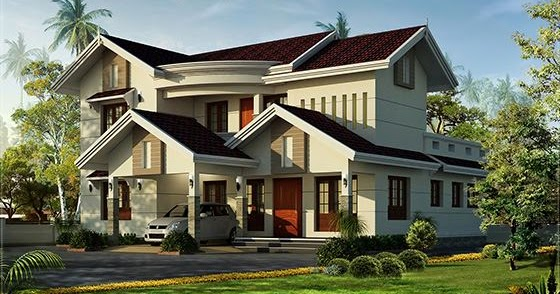 Beautiful villa in 2500 kerala home design and for 2500 to 3000 sq ft homes