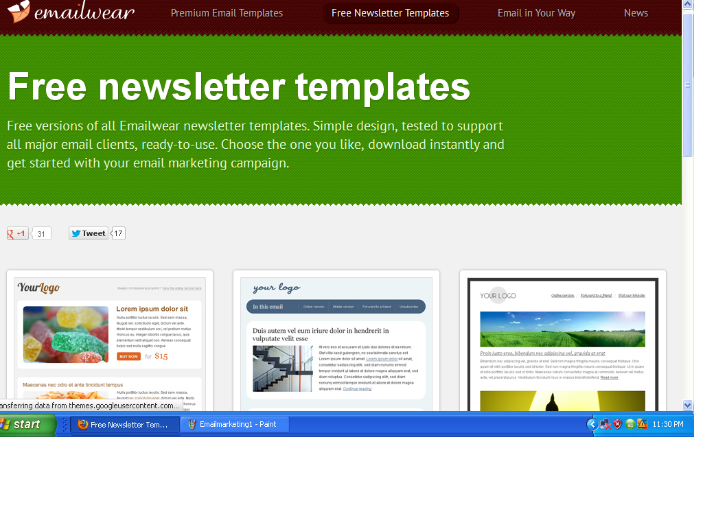 best newsletter and email marketing templates websitesfree. Black Bedroom Furniture Sets. Home Design Ideas