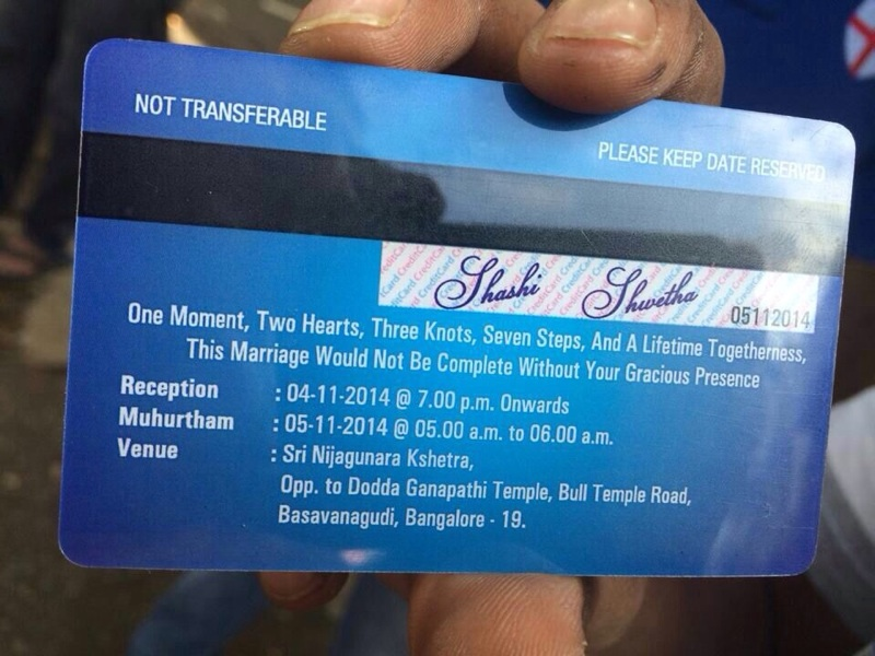 Shaadi Invitation Card