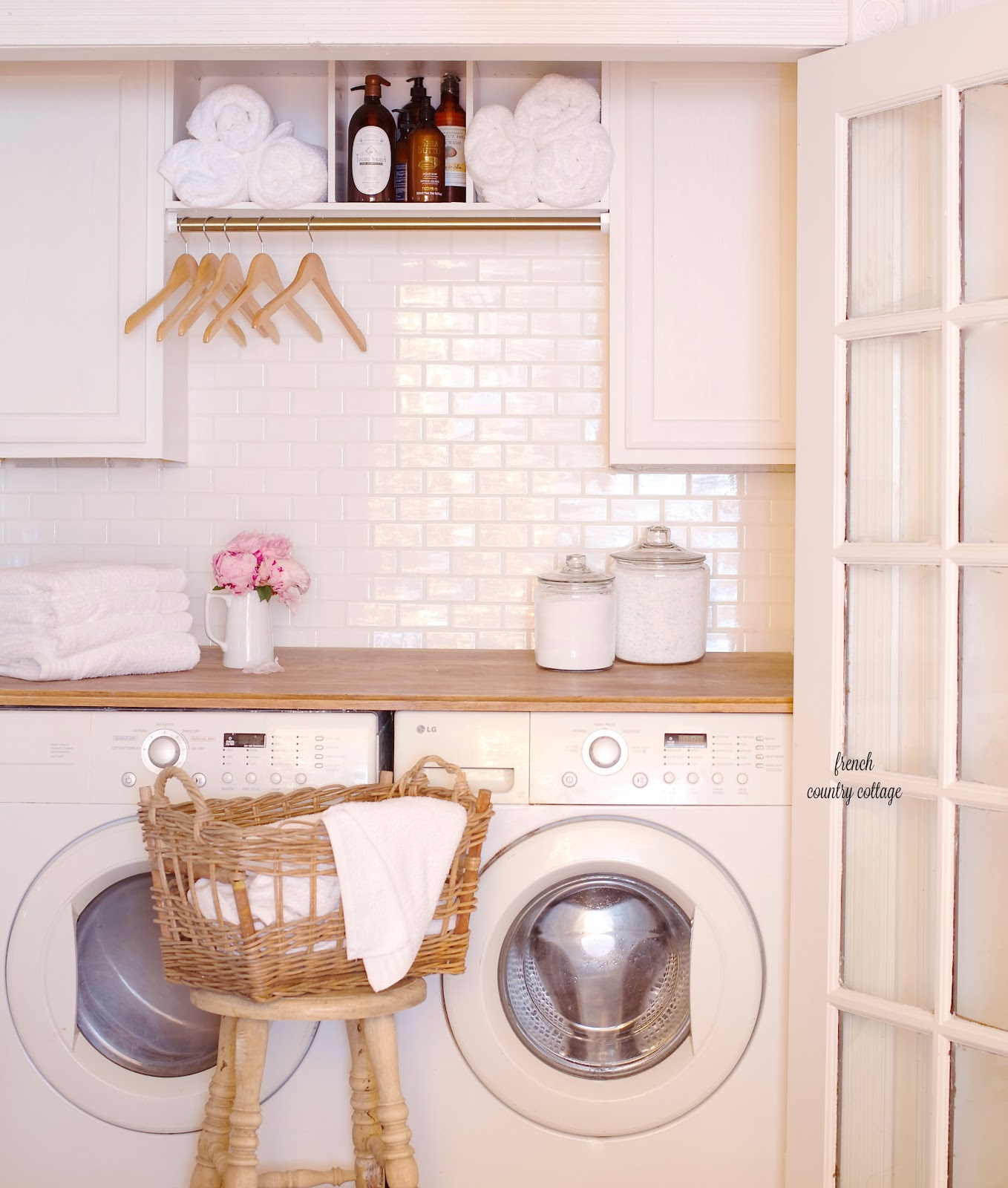 Under 500 laundry room renovation reveal french country for Country laundry room