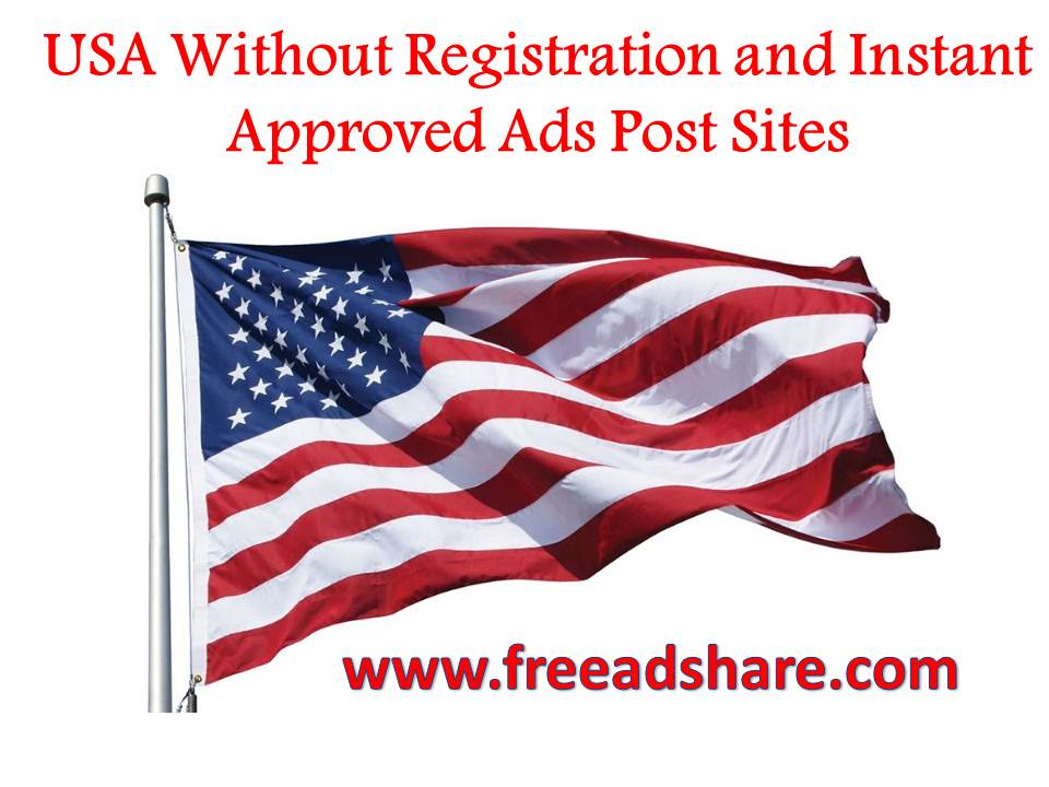 free ad posting sites list without registration in usa