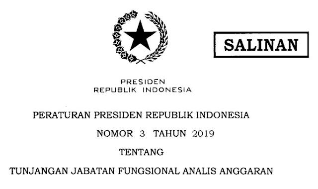 Peraturan Presiden Nomor 3 tahun 2019