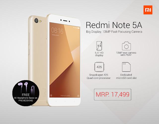 Xiaomi Redmi Note 5A Price in Nepal