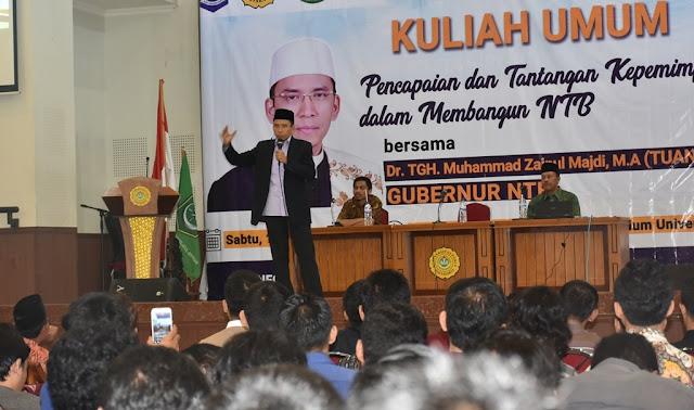 TGB Berikan Kuliah Umum di Universitas PGRI Jogjakarta