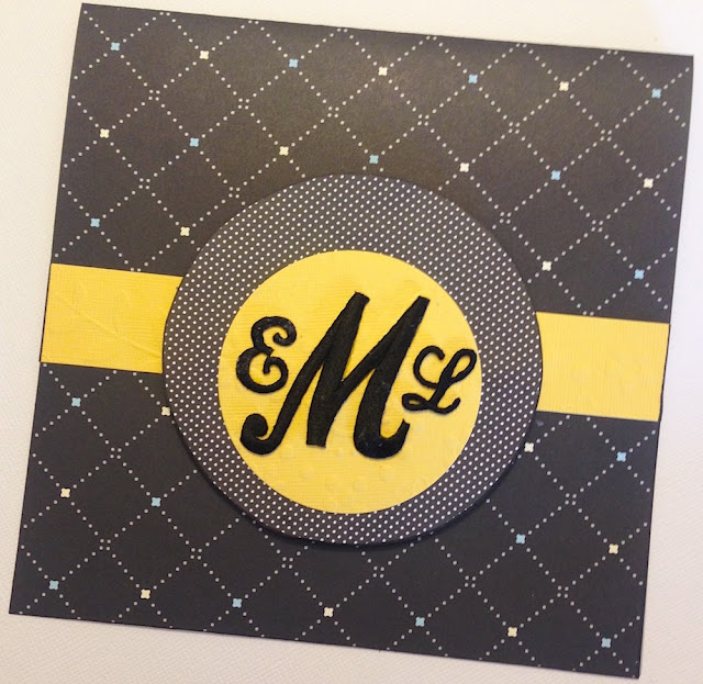 monogram notecard lisa fulmer