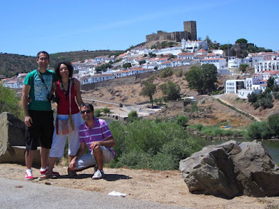 Castle and white houses of Mértola in Alentejo