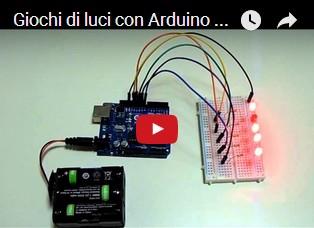 Giochi di luci con Arduino e cinque LED