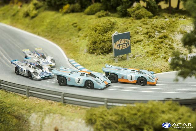 Slot Car Custom Porsche 917 Martini & Rossing Racing  Daytona 1971