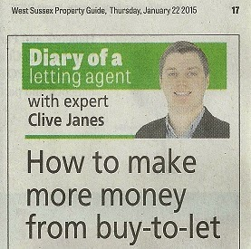 newspaper cutting - buy to let chichester property