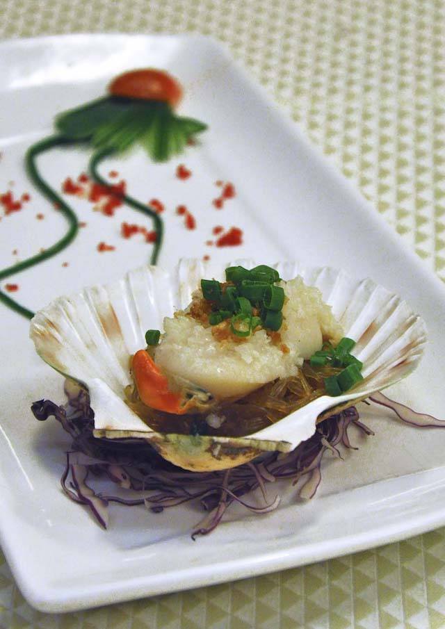 Steamed Scotland Scallop with Minced Garlic and Vermicelli