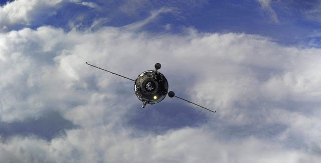 Progress MS-03 spacecraft approaches ISS. Credit: Roscosmos