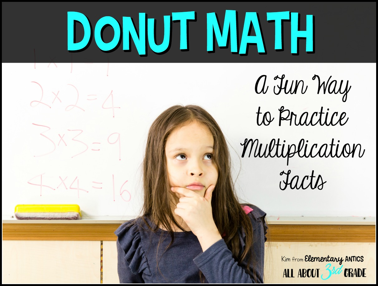 Donut Math A Fun Way To Practice Multiplication Facts