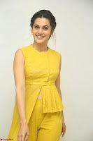 Taapsee Pannu looks mesmerizing in Yellow for her Telugu Movie Anando hma motion poster launch ~  Exclusive 059.JPG