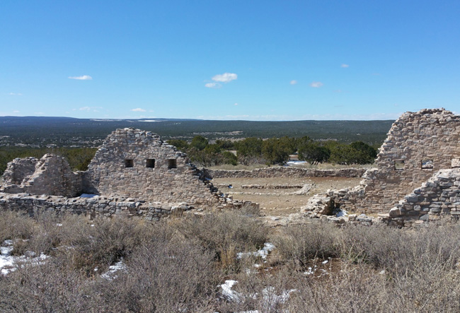 Ruins of Gran Quivira Salinas Pueblo Mission in Mountainair New Mexico