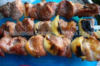шашлык из свинины на кефире готовый