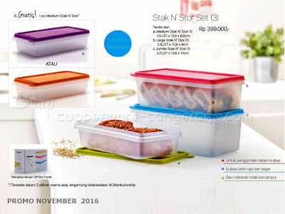 Stak N Stor Set Promo Tupperware November 2016