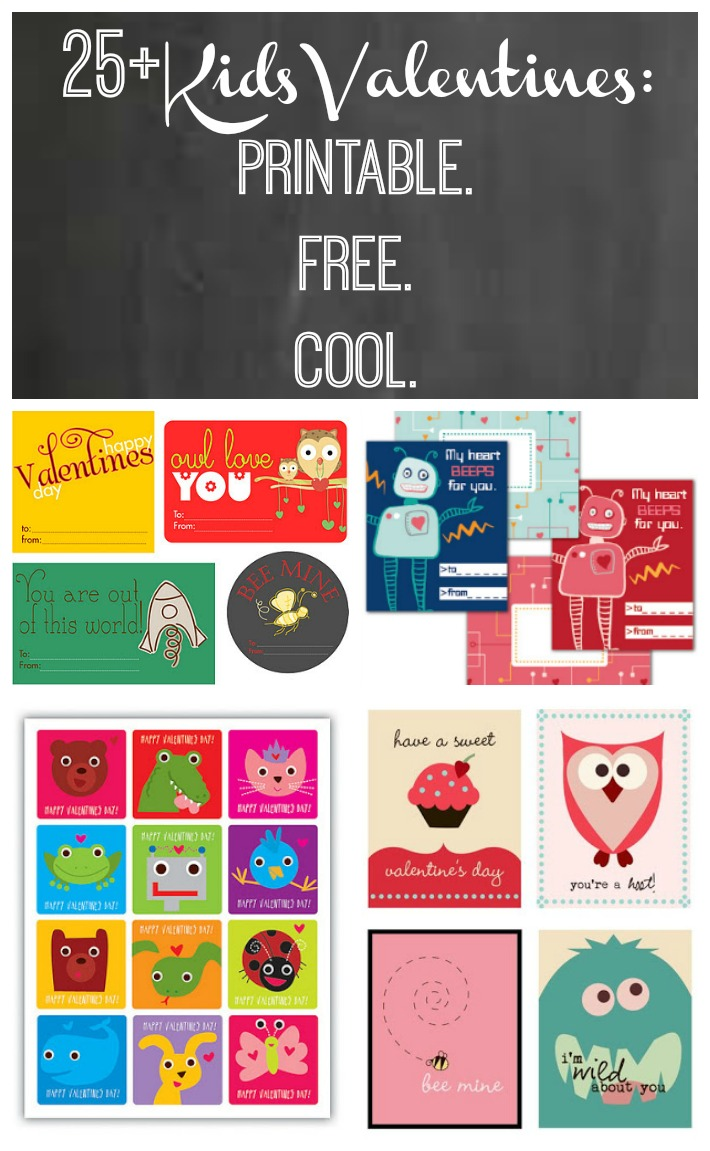 picture relating to Printable Kid Valentines called Young children Valentines: Printable. No cost. Awesome. Frugal Family members Moments