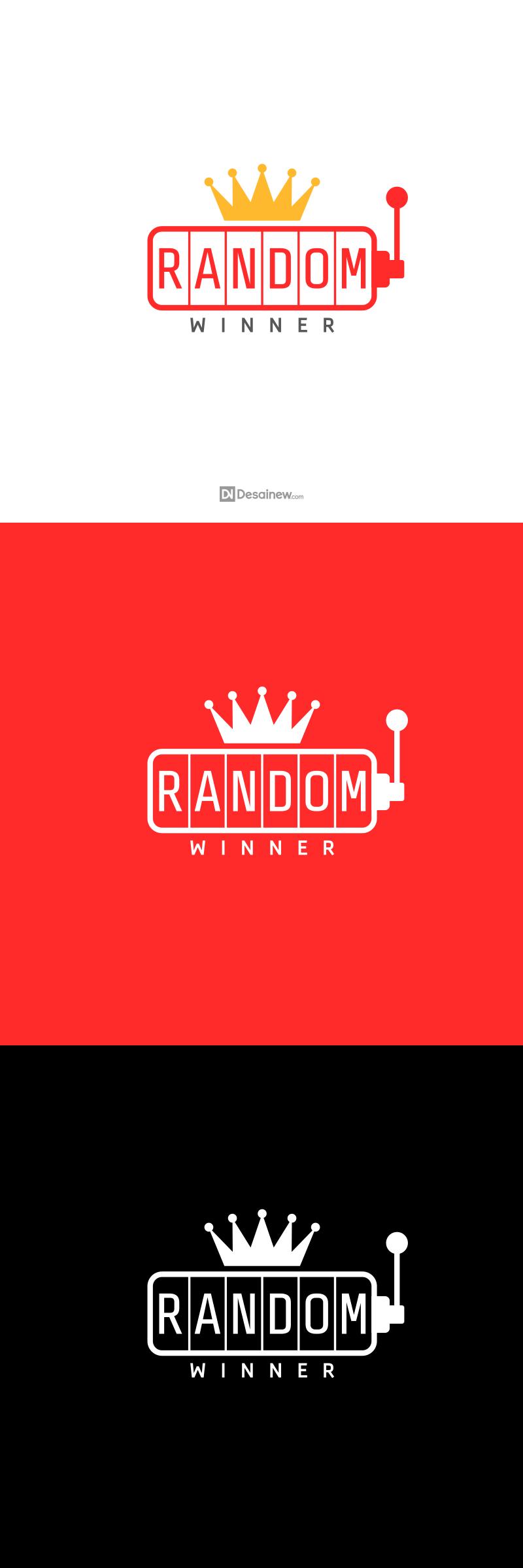 Random Winner Logo Design Project Portfolio Desainew Studio