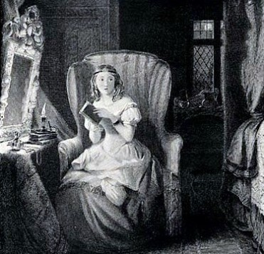 The Ghost Story, engraving by Robert Graves, Jane Austen's Gothic novels