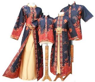 model baju batik muslim sarimbit elegan