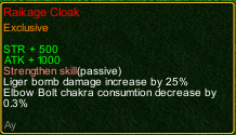 naruto castle defense 6.0 Ay Raikage Cloak