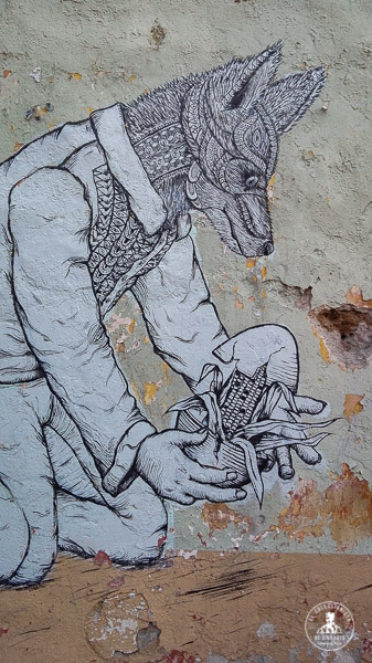 Arte callejero en Oaxaca