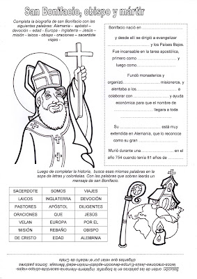Resultado de imagen para oraciones a san bonifacio obispo y martir