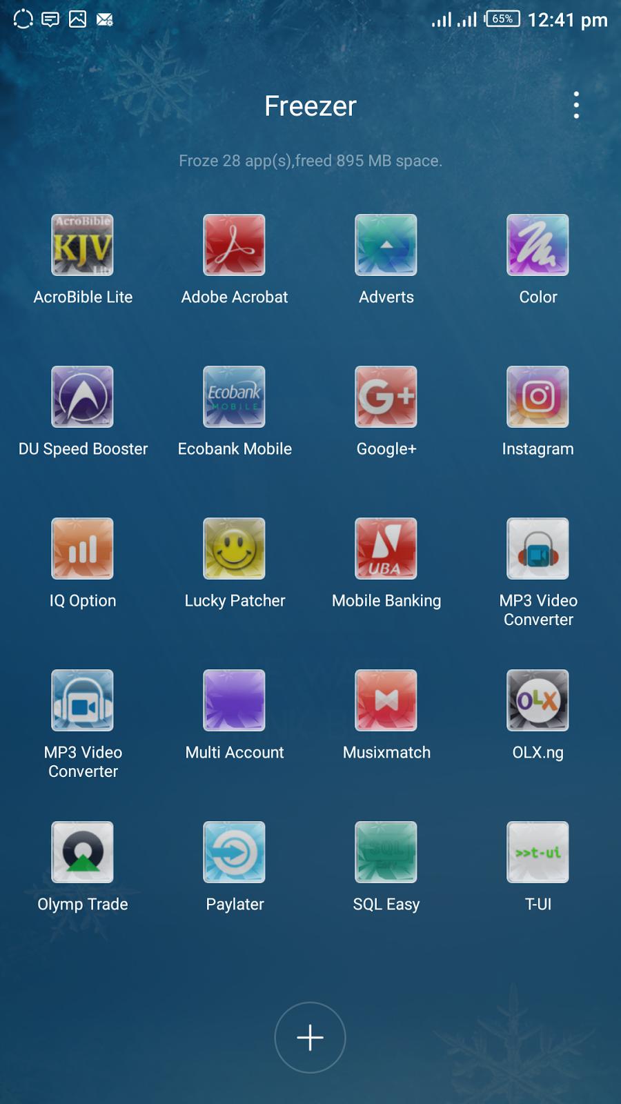 app freezer homepage