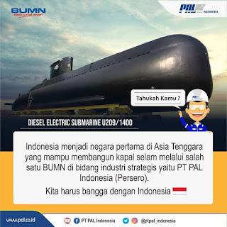 Kapal Selam Buatan PAL Surabaya Siap Mendunia