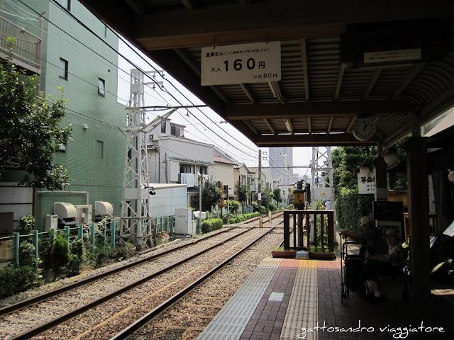 tram storico di Tokyo
