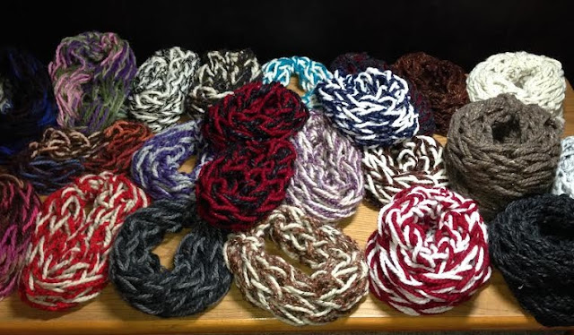 Arm knitted Scarves