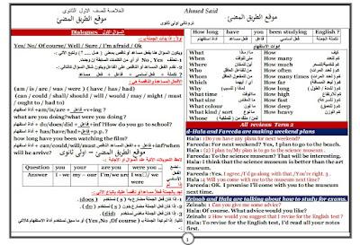 مراجعة ليلة الامتحان لغة انجليزية للصف الاول الثانوى الترم الثاني ، مستر احمد سعيد