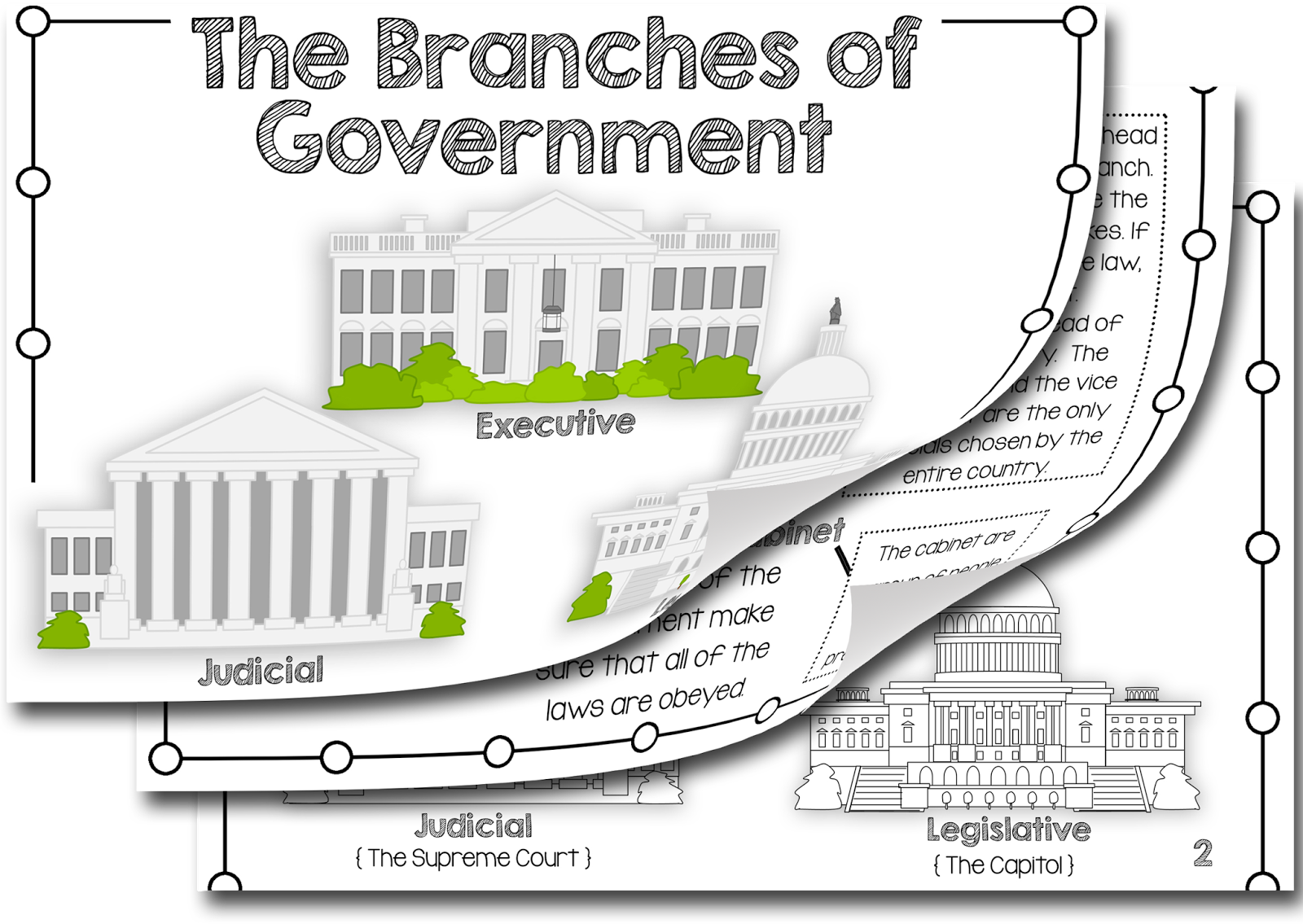 Simply Skilled In Second Branches Of Government Amp A Freebie