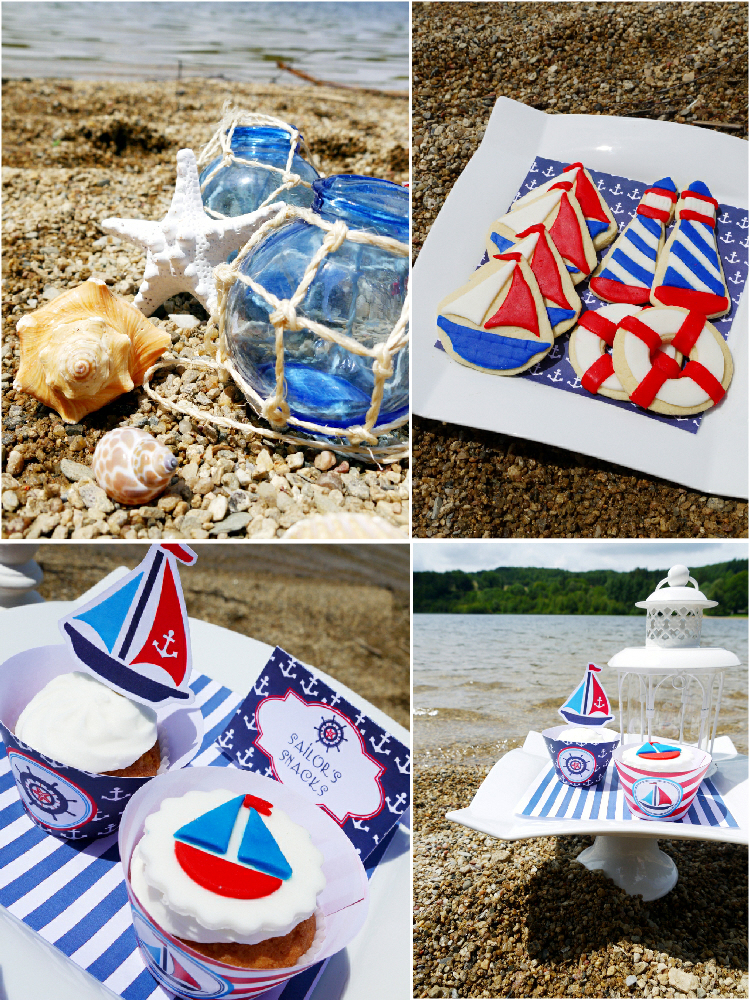A rustic shabby chic nautical birthday party party ideas for Summer white party ideas