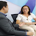Diná Almeida concede entrevista na TV Alese e se reúne com bancada feminina