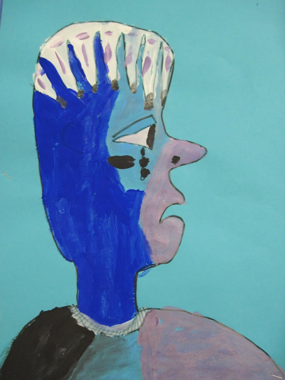 There's a Dragon in my Art Room: Picasso again - blue ...