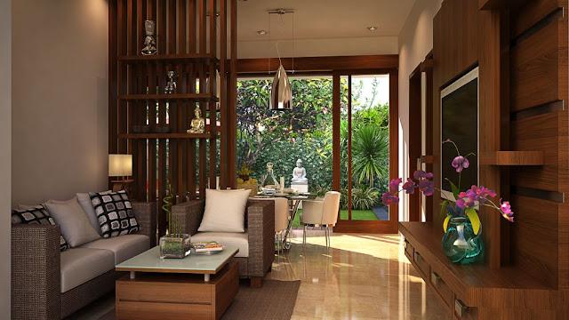 Desain Ruang Keluarga Model Rumah Minimalis Tipe 45
