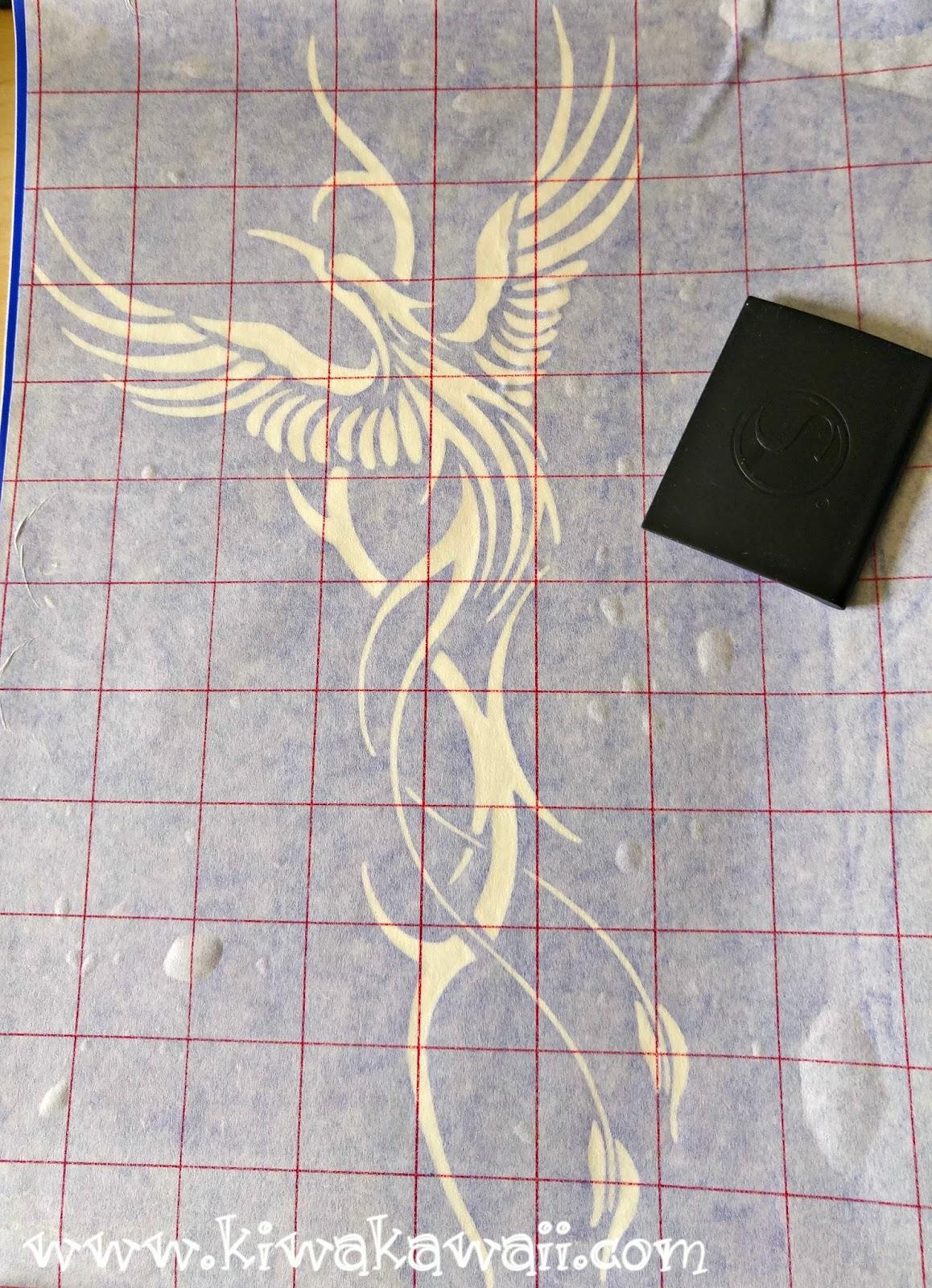 Tutorial: Pintar con pintura en spray usando plantilla - Kiwa Kawaii