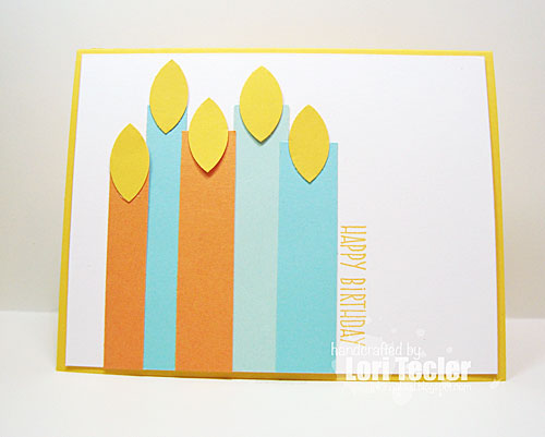 Birthday Candles card-designed by Lori Tecler/Inking Aloud-stamps from My Favorite Things