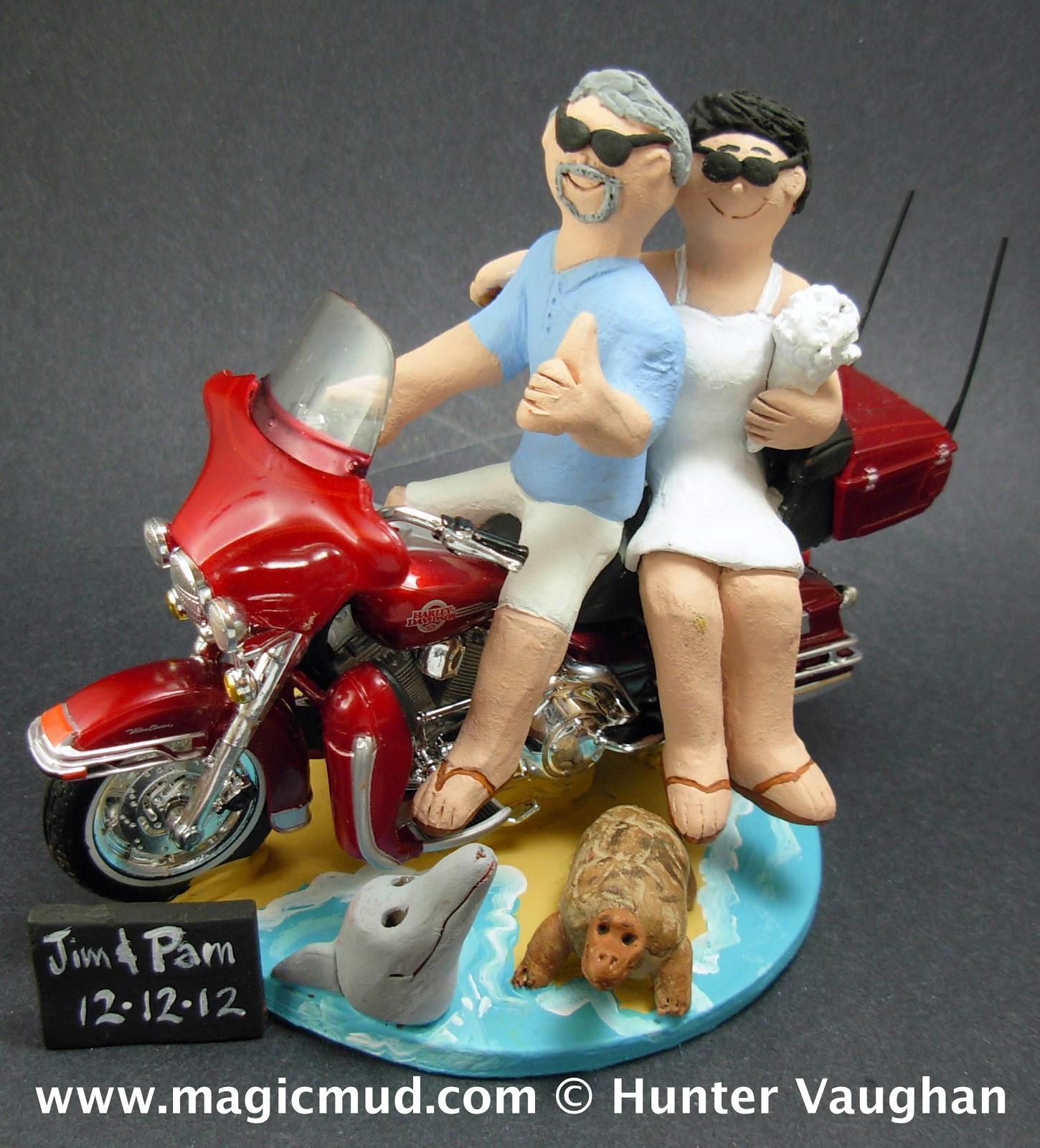 Custom Wedding Cake Toppers Harley On Beach Wedding Cake