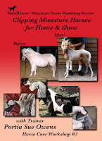 Clipping Miniature Horses for Home and Show Video DVD Small Horse Press