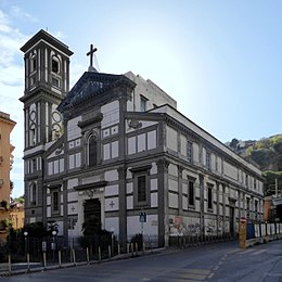 The church of Santa Maria di Piedigrotta is in the fashionable Chiaia district of Naples