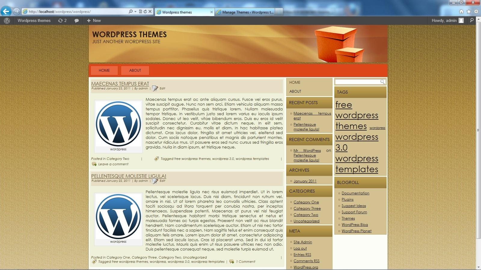 Free 3 Column Wordpress Theme Wp Box V2 These Templates