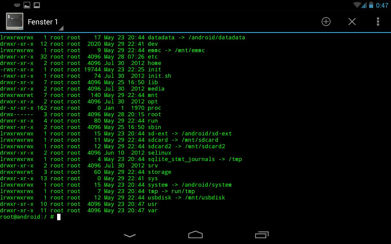 Command line with Terminal Emulator