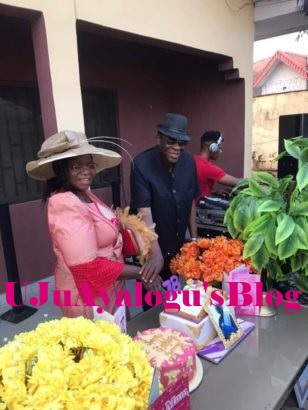 (PHOTOS) Ayo Fayose's Mum Celebrates 78th Birthday in Style