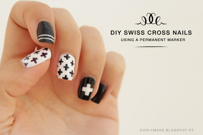 DIY Swiss Cross Nail Art - Curly Made