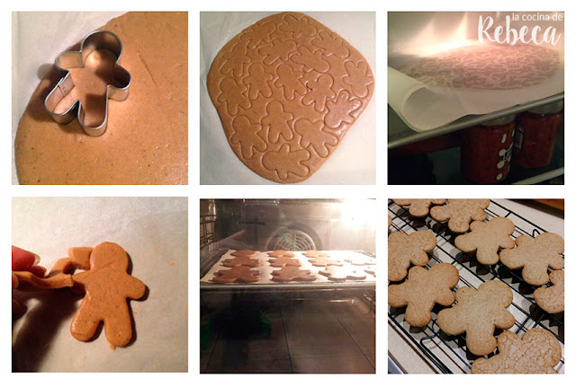 Receta de galletas de jengibre (gingerbread men cookies) 05
