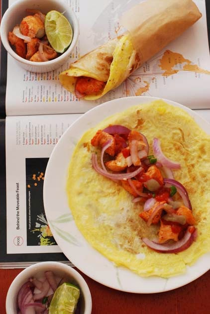 Bong Mom's CookBook: Kolkata Egg Chicken Roll -- Quick-easy