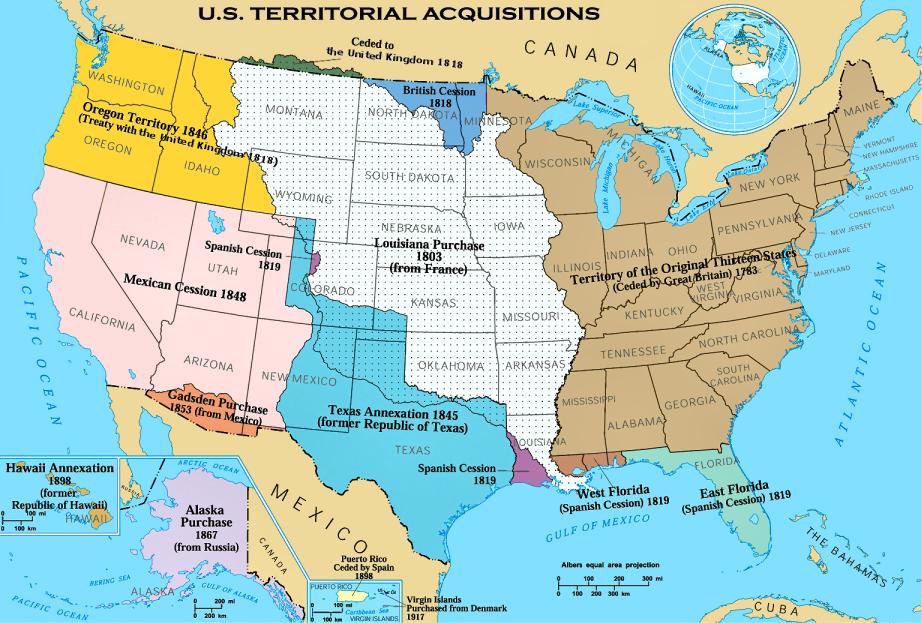 Big Blue United States - 1840 us map